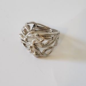 Silver artistic ring